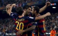 Neymar lập cú poker, Barcelona lên ngôi đầu