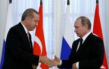 TT Putin và ông Erdogan lần đầu bắt tay sau vụ Su-24 bị bắn hạ