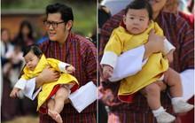 Vua và Hoàng hậu Bhutan khoe con trên Facebook