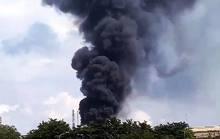 Cháy tại công ty Vedan, khói bốc cao hàng chục mét