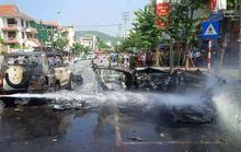Vụ nổ xe taxi: Hành khách tự sát đang chịu án 8 năm tù