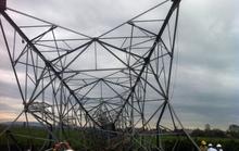 Cột điện 500 KV bị giật đổ, mất điện diện rộng
