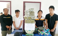 Bắt 4 người nước ngoài vận chuyển 69 bánh heroin từ Tam giác vàng
