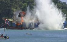 Indonesia đánh chìm tàu ma