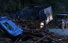 Xe tải tông vào vách núi đèo Bảo Lộc, tài xế bị thương nặng