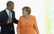 Ông Obama chào tạm biệt bà Merkel