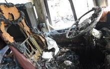 Vũng Tàu: Xe khách giường nằm bất ngờ bốc cháy