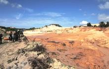 Vụ vỡ hồ titan ở Bình Thuận: Tạm dừng hoạt động khai thác