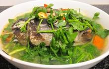 Đầu cá bớp nấu ngót, ngon cơm ngày mưa