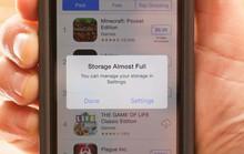 Giải phóng bộ nhớ iPhone không cần xóa dữ liệu
