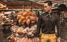 Kim Lý làm mẫu cho tạp chí thời trang Myanmar