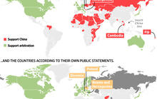 Trung Quốc nói 60 nước ủng hộ nhưng chỉ 8 nước ra mặt