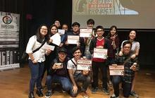 Sinh viên thi làm phim tại Singapore