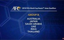 Thái Lan đụng Nhật, Úc ở vòng loại thứ 3 World Cup 2018