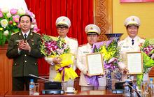 Ông Trần Đại Quang trao các quân hàm cấp Tướng công an