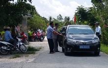 Xe công Hậu Giang dự khánh thành phủ đường ở Sóc Trăng