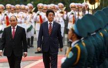 Cận cảnh lễ đón Thủ tướng Shinzo Abe tại Phủ Chủ tịch