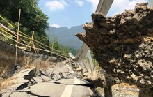 Quốc lộ gần 100 triệu đô ở Thanh Hóa sụt lún kinh hoàng