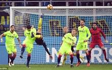 Xem Murillo lập siêu phẩm, Inter vào tứ kết Cúp Ý