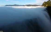'Thác mây tiên nữ' - hiện tượng thiên nhiên hiếm có