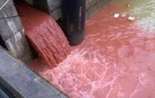 Clip cống xả chất thải màu đỏ được quay ở Đà Nẵng cách đây 2 năm