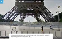 Diện mạo mới của tháp Eiffel sau khi lắp kính chống đạn