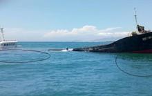 Nguy cơ tràn dầu từ tàu chìm trên vùng biển Ninh Chử