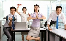 Bài tập thể dục giảm mệt mỏi ngay tại bàn làm việc