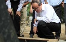 Bí thư Nguyễn Thiện Nhân thị sát siêu máy bơm chống ngập trước giờ vận hành