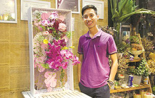 Học đại học ra trường làm thợ… cắm hoa
