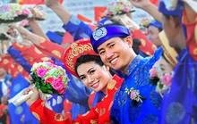 Ảnh chụp đám cưới tập thể công nhân đoạt giải nhất