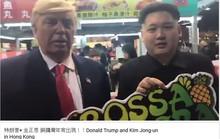 Donald Trump và Kim Jong-un giả gặp nhau ở Hồng Kông