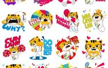 Facebook ra mắt bộ nhãn dán sticker Rimau cho SEA Games 2017