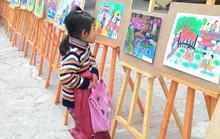 Học sinh tiểu học thi vẽ tranh Sải cánh vươn cao
