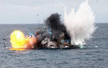 Tàu cá nổ kinh hoàng trên biển Vũng Tàu