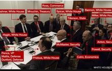 """Giải mã bức ảnh """"phòng họp chiến sự"""" của ông Trump"""