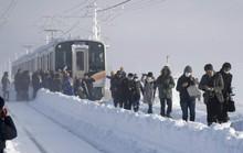 Nhật Bản: Tuyết chôn chân xe lửa, khách rã rời đứng cả đêm