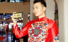 Diễn viên Hoa ngữ xúng xính trong áo dài Việt Nam