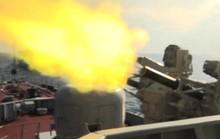 """Cận cảnh dàn pháo Hải quân trút 'bão lửa"""" xuống mục tiêu trên biển"""