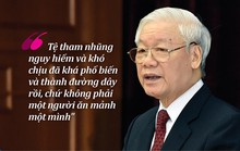 (Infographic) - Tổng Bí thư Nguyễn Phú Trọng và quyết tâm chống tham nhũng, chỉnh đốn Đảng