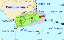 """Áp thấp nhiệt đới """"ở lỳ"""" gần bờ biển Nam Trung Bộ"""
