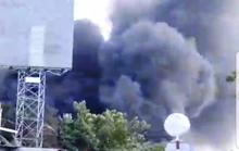 Cháy dữ dội ở gần cầu Mỹ Thuận