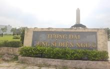 Bảng tên tượng đài bị rớt chữ