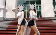 Hai nữ sinh bận áo dài - quần đùi hối hận, mong được trường bảo vệ