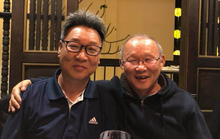 HLV Park Hang Seo ăn tối cùng sư phụ thứ 2 của Hoàng Xuân Vinh