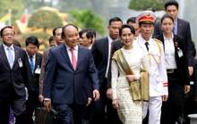 Thủ tướng đón Cố vấn Nhà nước Myanmar Aung San Suu Kyi