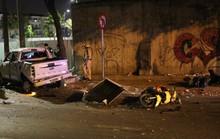 Lấy lời khai tài xế gây tai nạn liên hoàn trên đường Nguyễn Hữu Cảnh