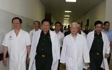 Tổng Bí thư đến bệnh viện thăm nguyên Tổng Bí thư Đỗ Mười, nguyên Chủ tịch nước Lê Đức Anh