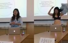 Sinh viên lột đồ khi bị giảng viên phê bình mặc quần quá ngắn