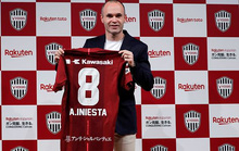 Andres Iniesta gia nhập J-League, nhận lương khủng 75 triệu euro